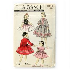 Girls Tyrolean Dress Sewing Pattern Advance 8142 by SelvedgeShop