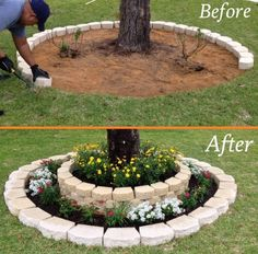 Lovely Diy Gardening Ideas More Easier - DIY Garten Landschaftsbau Diy Tree Rings, Diy Gardening, Organic Gardening, Vegetable Gardening, Gardening Gloves, Flower Gardening, Container Gardening, Greenhouse Gardening, Gardening Supplies