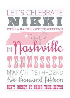 Bachelorette tips from a professional bridesmaid. Bachelorette Invitations, Bachelorette Weekend, Invite, Lets Celebrate, Nashville, Fairy Tales, Bridesmaid, Celebrities, Party