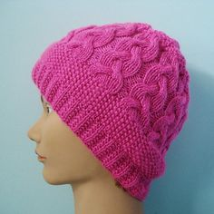 Beautiful Pink crochet hat knitting hat handmade beanie hat gift fashion by legendida