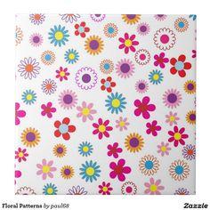 Floral Patterns Ceramic Tile