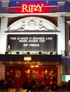 The Rirtzy in Brixton remembers Prince
