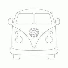 Pattern for string art VW bus Vw Bus, Vw Camper, Volkswagen, Applique Templates, Applique Patterns, Art Template, Quilt Patterns, Peugeot Expert, Tom Und Jerry