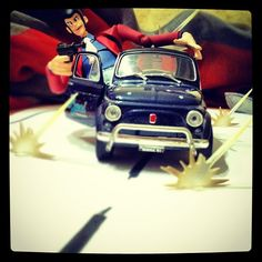 Lupin on board Fiat 500 » @Eduardo Villarroel » Instagram Profile » Followgram