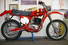 """1977 Maico AW440.  The AW stands for Adolph Weil, a German Motocross Champion who helped develop the bike.  These bikes were as close as a production bike could get to matching """"works"""" performance."""