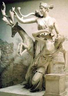 "templeofapelles: "" Iphigenia is saved from her own sacrifice by the Goddess Artemis """