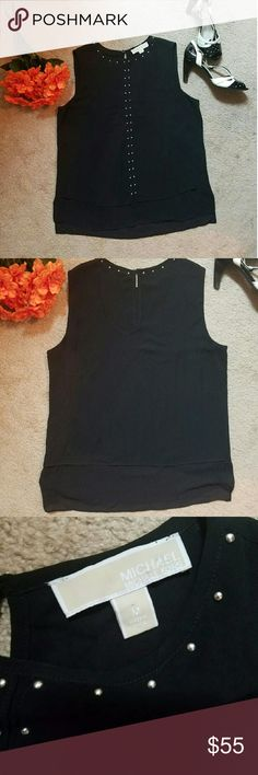 Gorgeous Michael Kors top GREAT condition, no stains and embellishment are perfectly intact. Looking for its new home! Michael Kors Tops Blouses