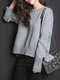 Asymmetric Cotton-blend Sweater