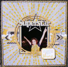 Superstar - A2Z Scraplets #layout #a2zscraplets #scrapbooking