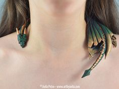 Handmade Dragon Necklaces http://geekxgirls.com/article.php?ID=7096