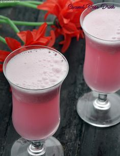 A refreshing coconut drink with a unique flavour of kewra. Juice Drinks, Fruit Drinks, Drinks Alcohol Recipes, Smoothie Drinks, Smoothie Recipes, Beverages, Cocktail Drinks, Drink Recipes, Dessert Recipes