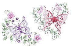 Rippled Dancing Butterflies Set, 11 Designs - 3 Sizes!