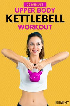 If you want to work your upper body for more defined arms, back, shoulders and chest then you must try this upper body kettlebell workout. All you need is a single kettlebell and you are good to go. Ideal Kettlebell workout for women. Upper Body Kettlebell Workout, Kettlebell Workouts For Women, Weights Workout For Women, Short Workouts, Pilates Workout, Hiit, At Home Workouts, Body Workouts, Pop Pilates