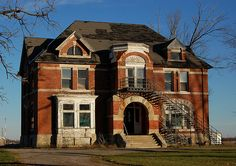 The abandoned Fayette County Children's Home in Washington Court House, Ohio...haunted house yes, please!!!