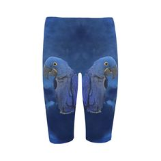 Hyacinth Macaw Cropped Leggings. FREE Shipping. FREE Returns. #lleggings #parrots