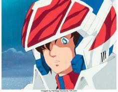 Robotech/Macross Hikaru Ichijyo Production Cel with Painted Background (Artland, c. 1982-83) Robotech Macross, Auction, Anime, Art, Art Background, Kunst, Cartoon Movies, Anime Music, Performing Arts