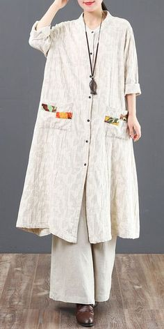 Spring Loose Long Cotton Shirt Women Casual Blouse 6120 – Linen Dresses For Women Abaya Fashion, Muslim Fashion, Modest Fashion, Spring Shirts, Dress With Sneakers, Linen Dresses, Indian Designer Wear, Pullover, Clothes For Women