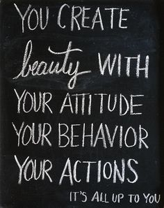 you create beauty!