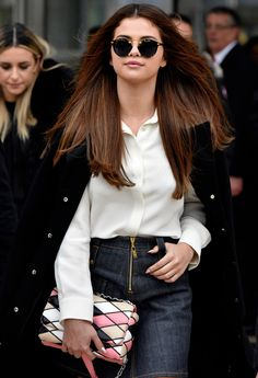 Selena Gomez leaving the Louis Vuitton Autumn/Winter 2016 Show in Paris, March 9th