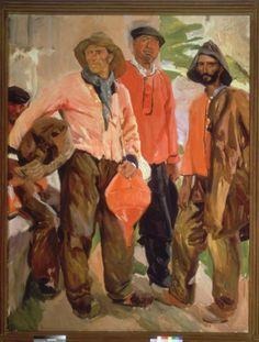 Tipos de lequeitio. 1912 de Joaquín Sorolla