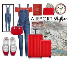 """""""Jet Set: Airport Style Contest"""" by texasradiance ❤ liked on Polyvore featuring Newgate, Alice + Olivia, Mulberry, Rimowa, Diane Von Furstenberg, Royce Leather, Gucci and airportstyle"""