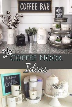 Coffee Nook Ideas - 26 coffee station ideas you can copy in your kitchen