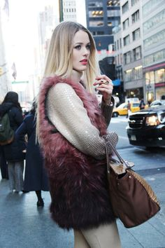 Love the ombre fur! KAYTURE: PRE-NYFW PHILOSOPHICAL REFLEXIONS ABOUT LIFE