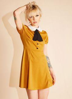 b5dece101d8 Amandine Dress (Mustard) Posh Dresses