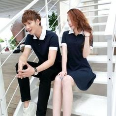 Buy Cobogarden Couple's Contrast Collar Polo Shirt / Polo Dress at YesStyle.com! Quality products at remarkable prices. FREE WORLDWIDE SHIPPING on orders over US$35.