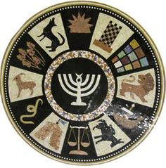 Israel's rendition of the zodiac, according to the twelve tribes - too cool!