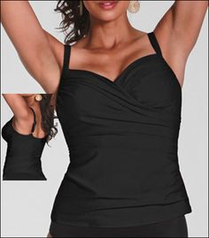 Magicsuit Solid Edie Underwire Swimsuit Tankini Top 97933
