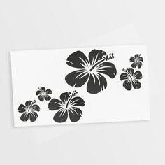 Adesivo Decorativo Para Parede Flores Hibiscos - Miho Studio Brasil