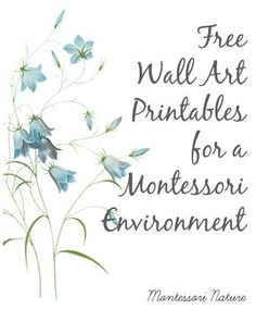 Free Wall Art Printables for a Montessori Environment.
