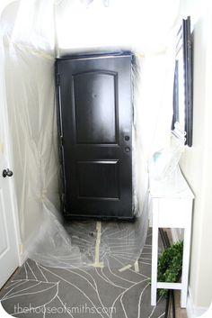 Painting our Entryway Door Black