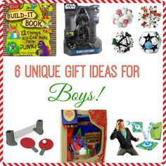 6 Unique Gift Ideas for Boys #giftideas #momofboys #holiday