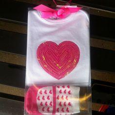 Heart onesie with socks