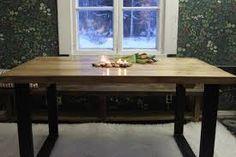 Kuvahaun tulos haulle lankkupöytä Dining Table, Rustic, Modern, Furniture, Home Decor, Homemade Home Decor, Diner Table, Dinning Table Set, Retro