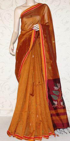 Viscose Cotton Handloom Saree (With Blouse) 13239 Sarees For Girls, Cotton Sarees Online, Indian Look, Handloom Saree, Saree Styles, Saris, Indian Outfits, Metal Jewelry, Black Metal