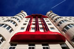 This fabulous art deco building was originally opened as the Beresford Hotel in 1938 for the Empire Exhibition in Glasgow. It was then converted into offices for ICI after the war, and then into Halls Of Residence for Strathclyde University. It is currently being re-developed as apartments.
