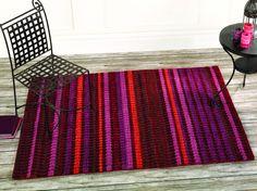Viscose/Wool mix Woodland Cedar RedRug 80x150 cms