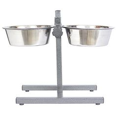 Iconic Pet 20Cup Adjustable Stainless Steel Pet Double Diner 160Ounce * Check out this great product.