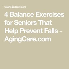 4 Balance Exercises for Seniors That Help Prevent Falls - Health and wellness: What comes naturally Fitness Senior, Fitness Tips, Fitness Challenges, Fitness Motivation, Health And Wellness, Health And Beauty, Health Fitness, Wellness Tips, Easy Workouts