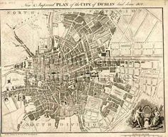 WDD New and Improved Plan of the Society of the Diffusion of Useful Knowledge, City Library, Dublin City, Old Maps, City Maps, Present Day, Capital City, 17th Century, City Photo, Vintage World Maps
