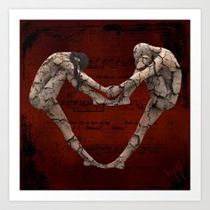 Le Coeur Noir - Dark Valentine. Is it an image of crumbling love? Or an image of people holding strong while everything is falling apart?
