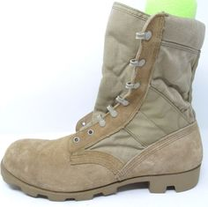 MILITARY ISSUE MENS BOOTS Tan SIZE 13.5N J4-97 WIDE | eBay #mensboots