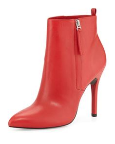 Zane Leather Ankle Boot, Red by Pour la Victoire at Bergdorf Goodman.