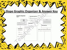 Graphic Organizer: Slope from 4 The Love of Math on TeachersNotebook.com -  (2 pages)  - This is a graphic organizer for slope. Graphic organizers are an easy way to present material.