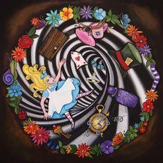 Alice In Wonderland Artwork, Alice And Wonderland Quotes, Alice In Wonderland Tea Party, Vinyl Record Art, Vinyl Art, Hole Drawing, Alice Rabbit, Mad Hatter Party, Rabbit Hole