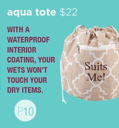 Aqua tote #initialsinc #iispring