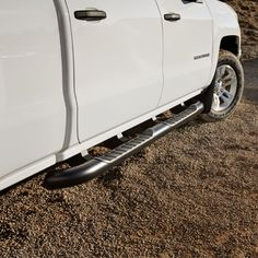 2017 Silverado 1500 Double Cab Assist Steps, 4 inch Round, Black - Stylish Assist Steps with textured step pads make it easier to get in and out of your Silverado Available in 4inch round with black powder coat finish Finish adds great style and excellent corrosion protection This complete OEM GM Assist Step Kit includes Driver and Passenger side preassembled assist steps with mounting brackets mounting hardware and installation instructions 4 inch Round Black For Use on Double Cab